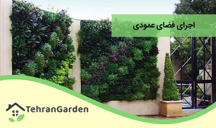 اجرای فضای سبز عمودی در تهران