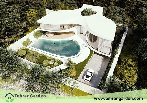 ساخت عمارت مدرن ویلا