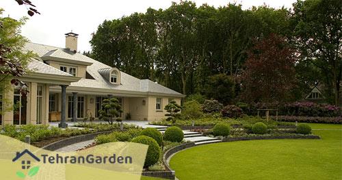 طراحی ویلا در باغ