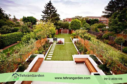 نمای باغ مدرن