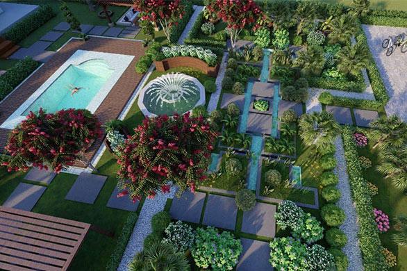 طراحی تری دی اجرای فضای سبز