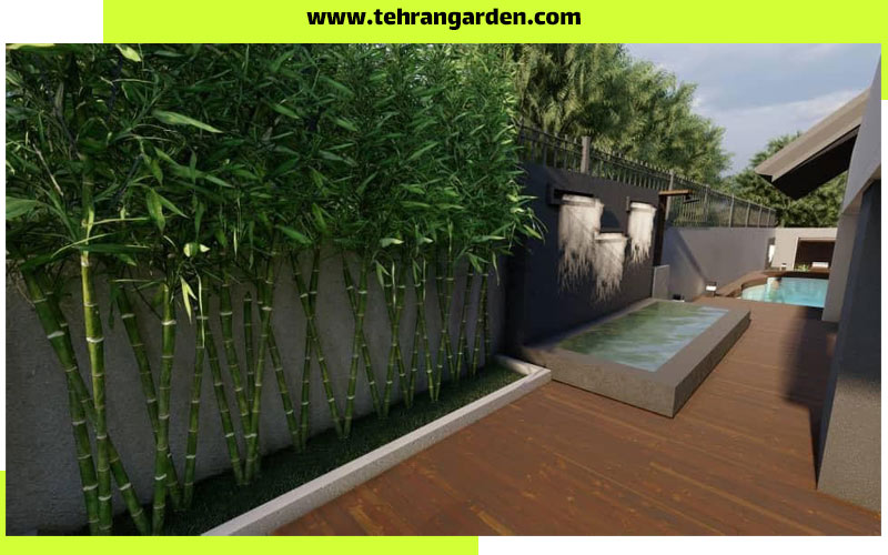 طراحی دیوار باغ