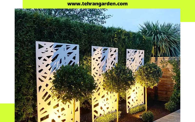 نورپردازی دیوار باغ