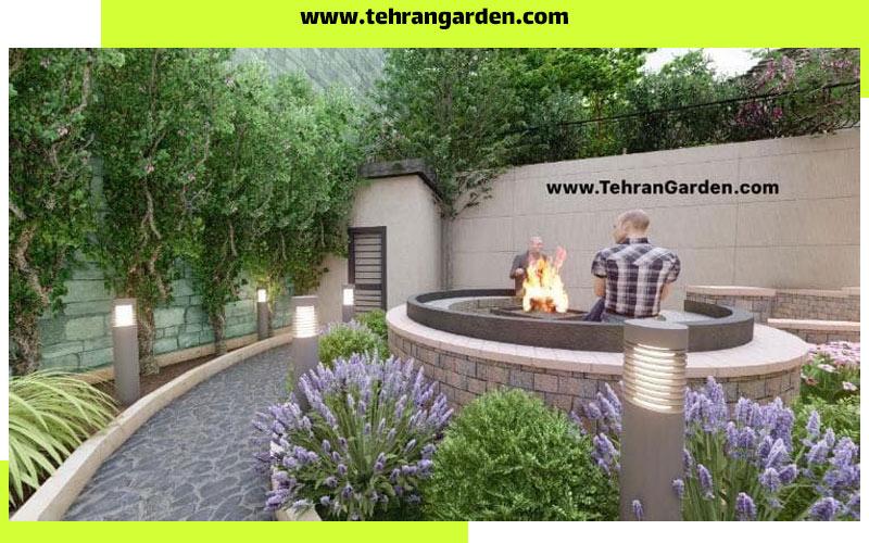 طراحی دیوار باغ با گیاهان