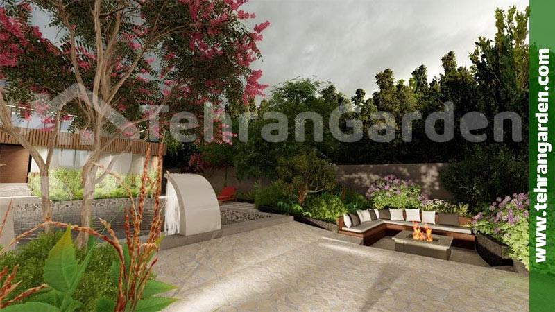 طراحی محوطه حیاط خانه