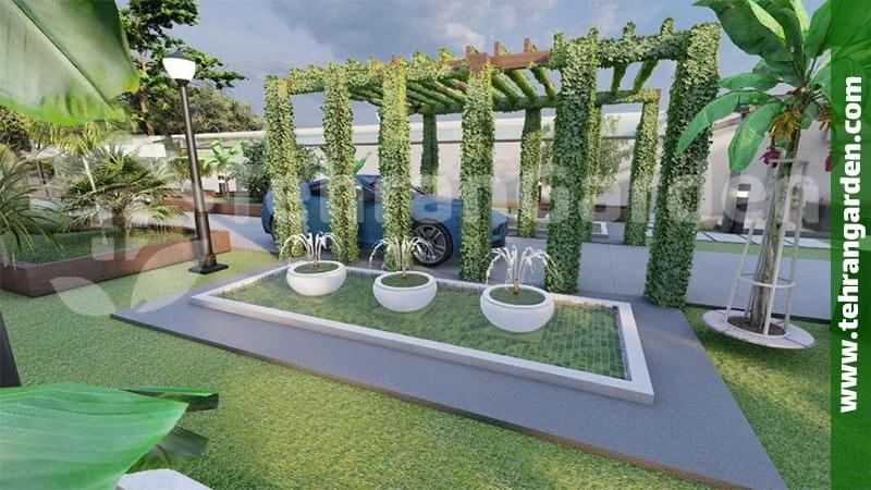طراحی محوطه حیاط