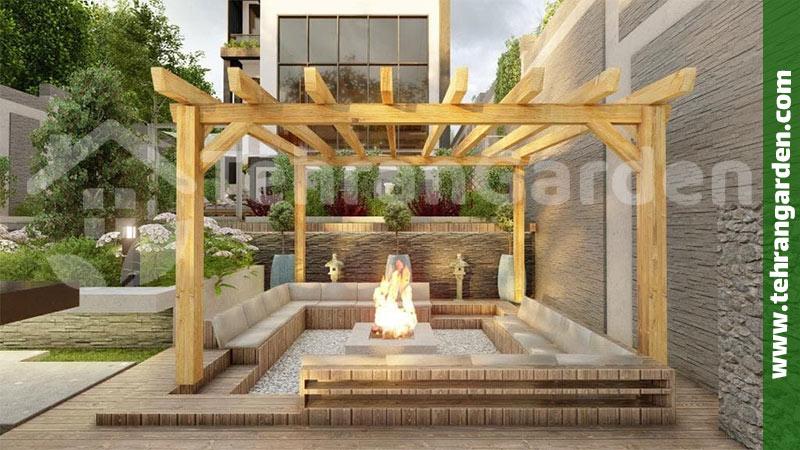 طراحی محوطه حیاط مسکونی