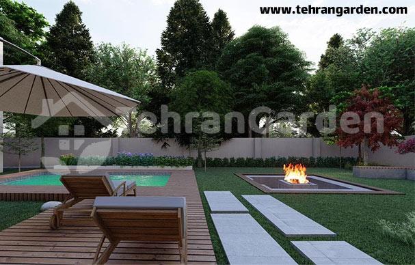 آتشدان در طراحی فضای سبز