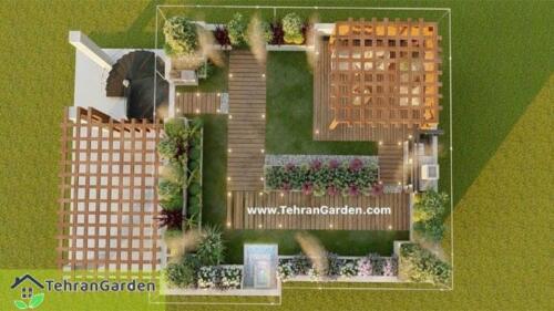 طراحی روف گاردن پروژه شهرک DH Land، بلاک ۱ ( کارفرما : چمنی )