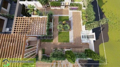 طراحی روف گاردن پروژه شهرک DH Land، بلاک ۴ ( کارفرما : جناب چمنی )
