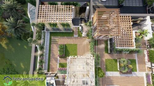 طراحی روف گاردن پروژه شهرک DH Land، بلاک ۳ ( کارفرما : جناب چمنی )