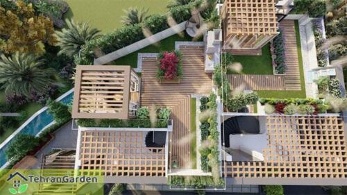 طراحی روف گاردن پروژه شهرک DH Land، بلاک ۲ ( کارفرما : جناب چمنی )