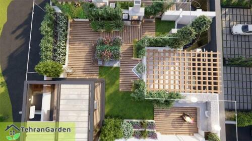 طراحی روف گاردن پروژه شهرک DH Land، بلاک ۵ ( کارفرما : جناب چمنی )