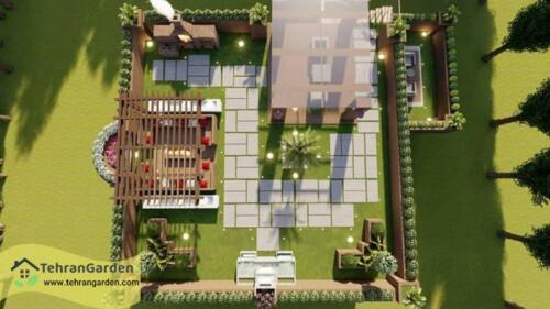 طراحی پروژه روف گاردن کرمانشاه(کارفرما: جناب سیدمحمدی)